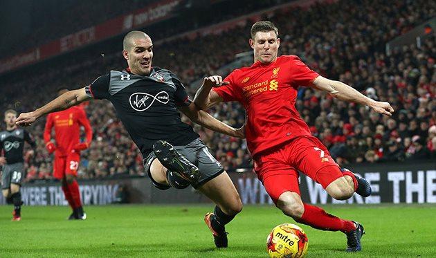 «Ливерпуль» и«Саутгемптон» сыграли вничью вматче АПЛ