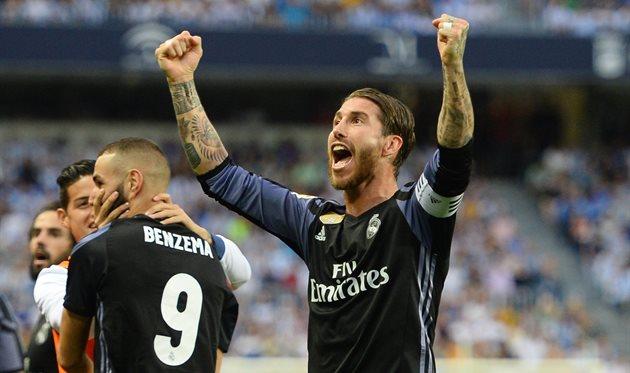 Серхио Рамос радуется победе Реала в чемпионате, Фото Getty Images