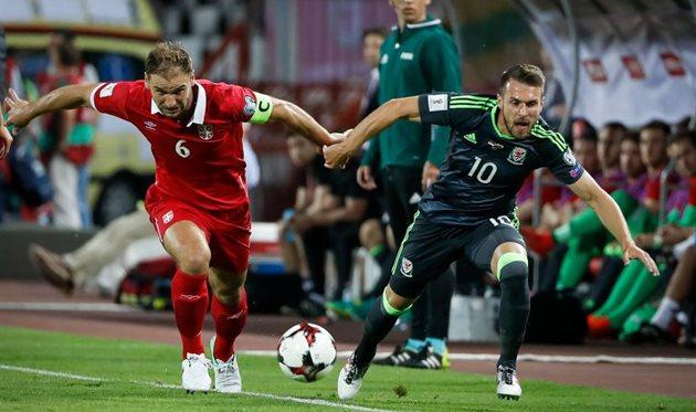 Сербия спаслась в матче с Уэльсом