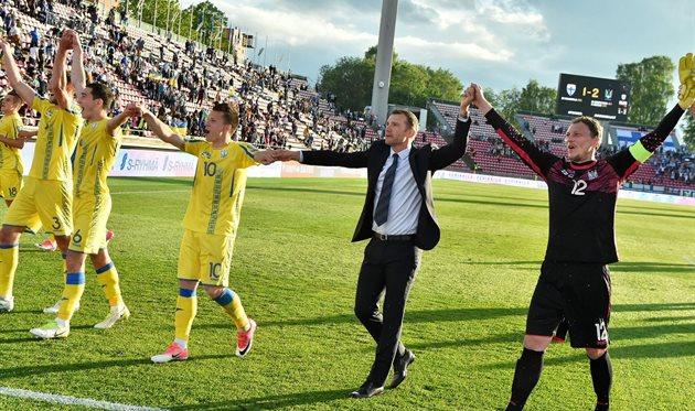 Радость сборной Украины после матча, ffu.ua