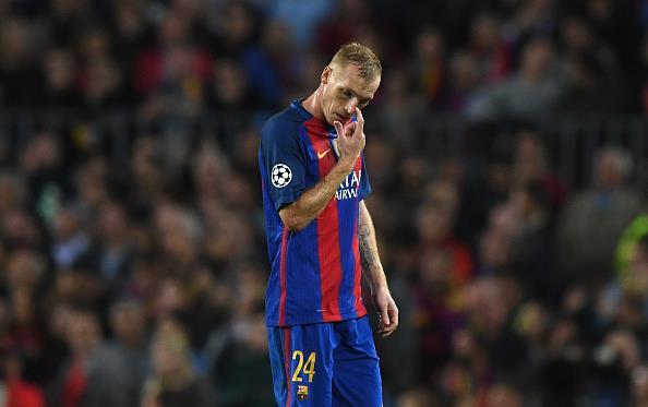 Матье покинул Барселону, Getty Images