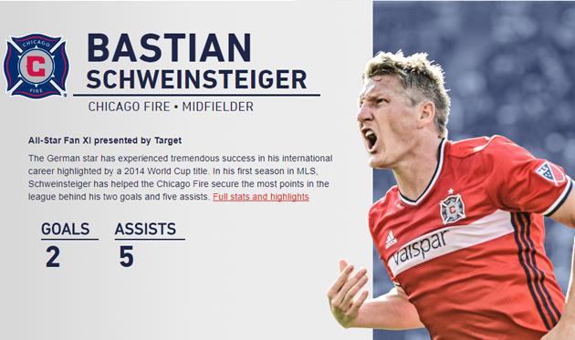 Швайнштайгер будет капитаном сборной Звезд МЛС в матче с Реалом