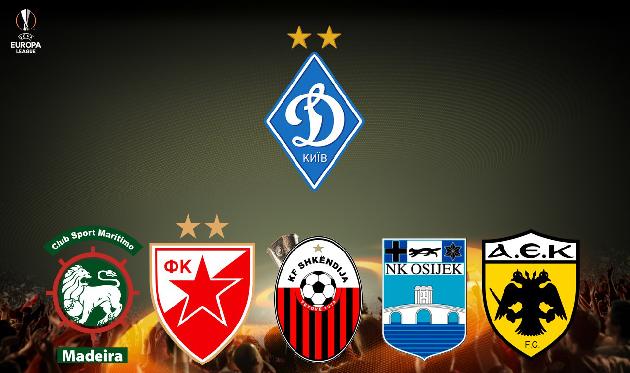 ВЛиге Европы УЕФА киевское «Динамо» сыграет спортугальским клубом «Маритиму»