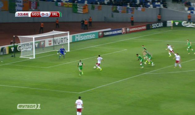 Грузия — Ирландия 1:1 Видео голов и обзор матча