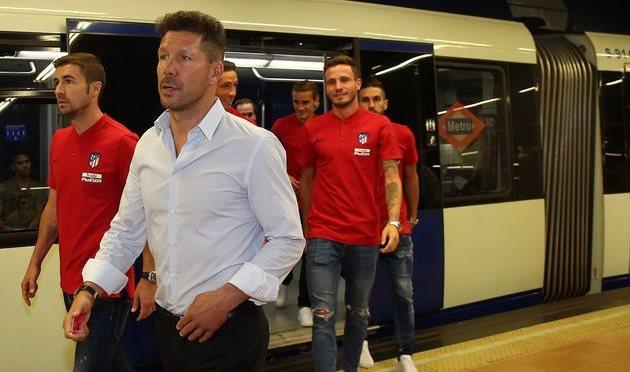 В Мадриде открыли станцию метро к стадиону Атлетико, twitter.com/atleti
