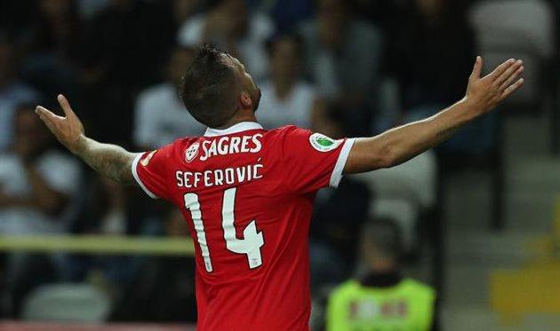 Автор первого гола в матче Харис Сеферович, Getty Images