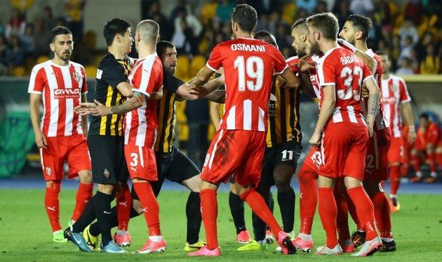 Скендербеу в игре против Кайрата, фото KazFootball.kz