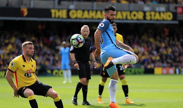 Хет-трик Агуэро и разрушение «шмелей»: «Манчестер Сити» разгромил «Уотфорд»