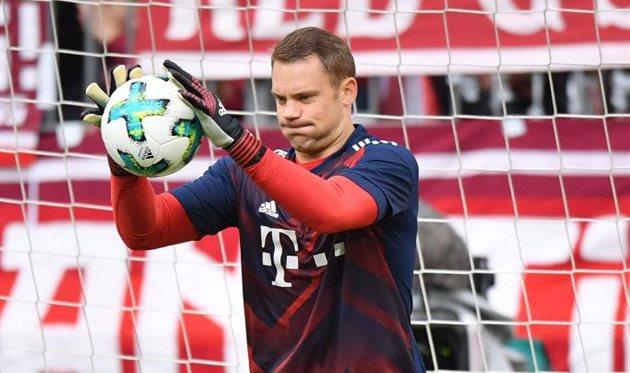 «Бавария» исборная Германии могут намесяцы потерять Ноейра