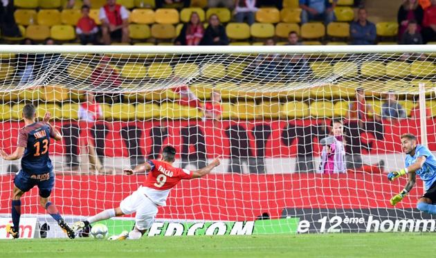 Фалькао забил очередной гол, twitter.com/Ligue1Conforama