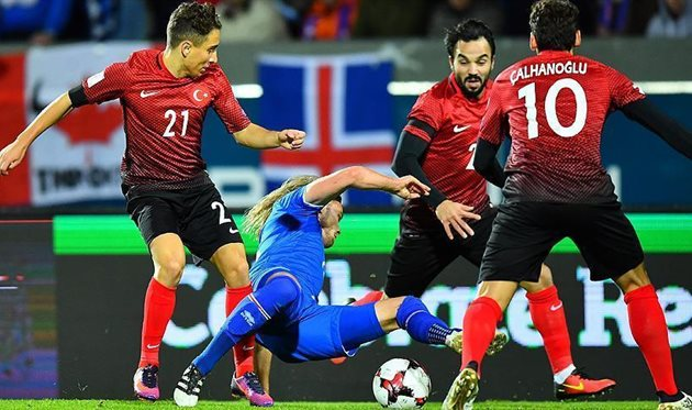 2018, группа I. Турция— Исландия 0:3. Ликование островитян