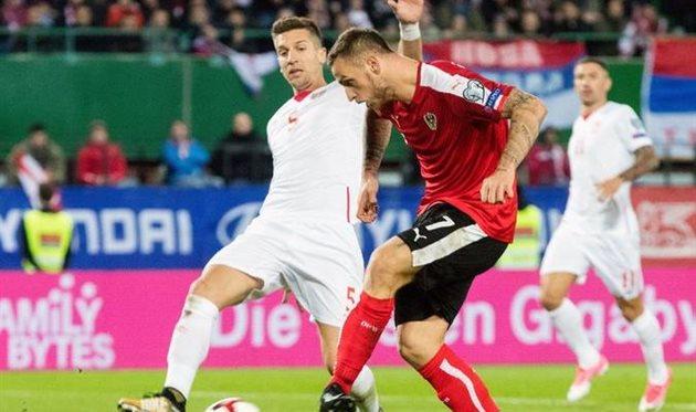 Австрия — Сербия 3:2 Видео голов и обзор матча