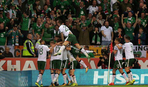 радость игроков сборной ирландии, getty images