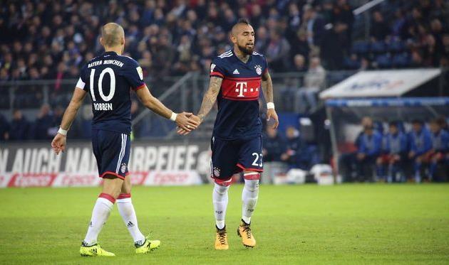 «Бавария» восновной массе обыграла «Гамбург» вматче чемпионата Германии