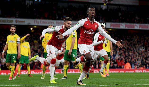 Дубль Нкетиа позволил «Арсеналу» пройти вчетвертьфинал Кубка лиги
