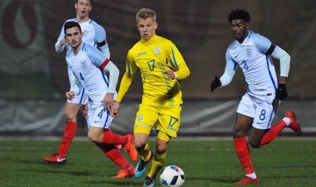Украинская «молодежка» проиграла англичанам вотборе наЕвро