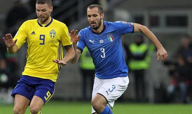 Кьелини (№3) отыграл свой последний матч за Италию, getty images