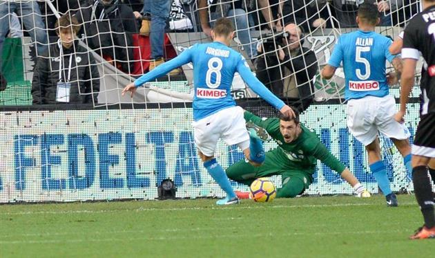 Футболисты «Наполи» обыграли «Удинезе» ипродолжают лидировать вчемпионате Италии