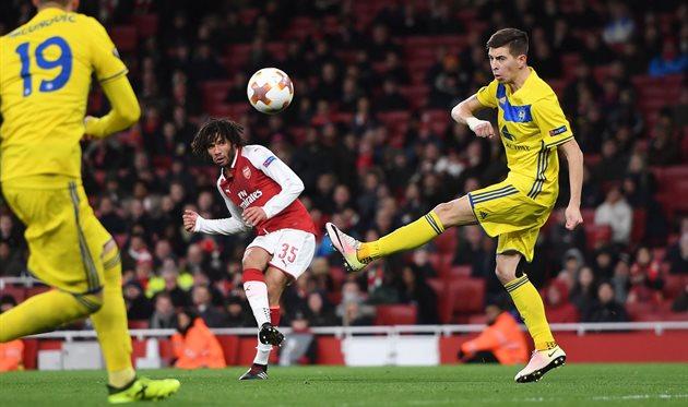 Арсенал - БАТЭ, фото: twitter.com/Arsenal