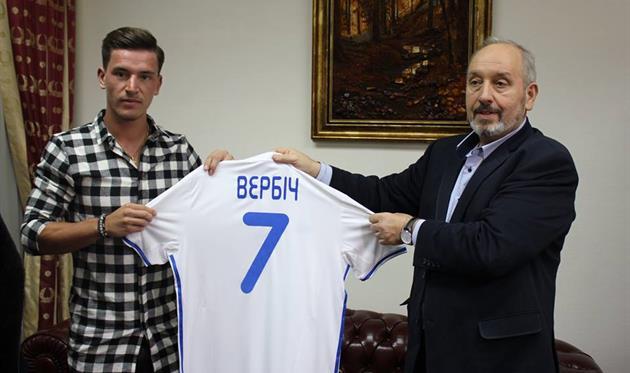 Вербич - игрок Динамо Киев