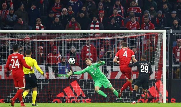 Килиан Мбаппе забивает Баварии в Лиге чемпионов, Getty Images
