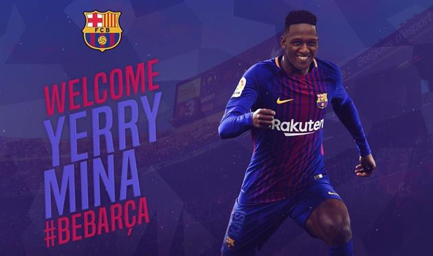 Йерри Мина, фото ФК Барселона