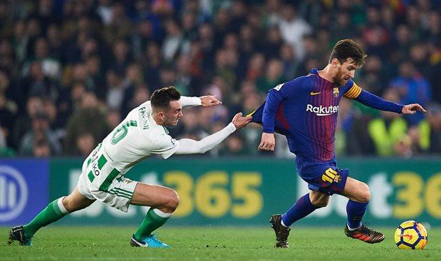 «Барселона» разгромила «Бетис» вматче чемпионата Испании пофутболу
