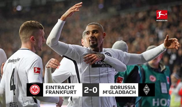 «Айнтрахт» обыграл менхенгладбахскую «Боруссию» вматче бундеслиги