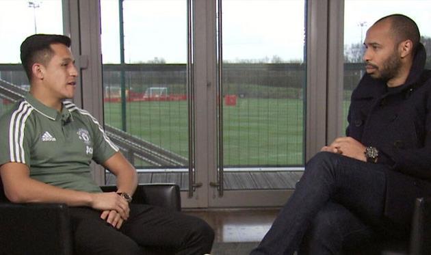 Алексис Санчес и Тьерри Анри, Sky Sports