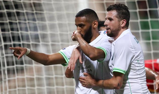 Моханада Асери празднует гол, twitter.com/ALAHLI_FC