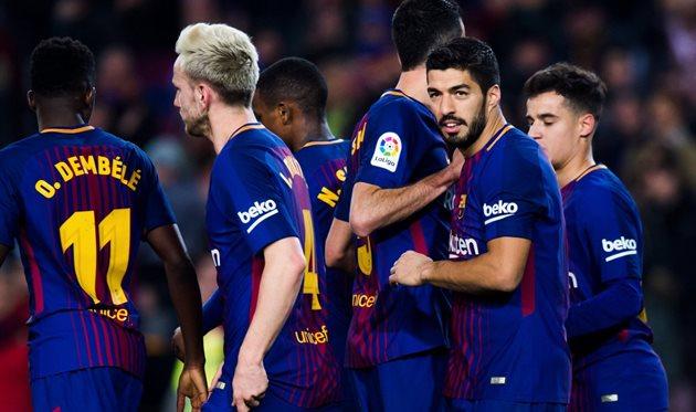 Хет-трик Суареса идубль Месси помогли «Барселоне» разгромить «Жирону»