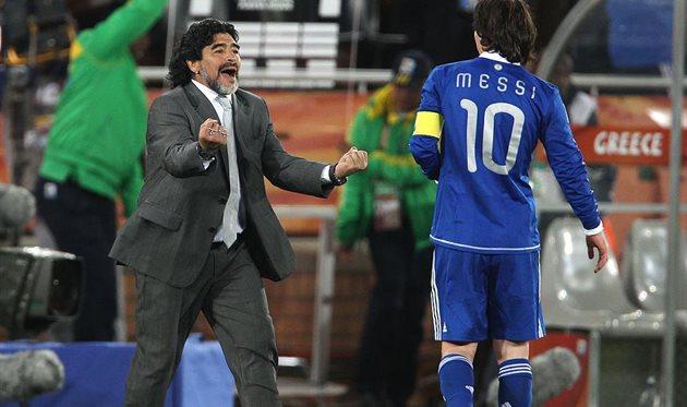 Диего Марадона и Лионель Месси, Getty Images
