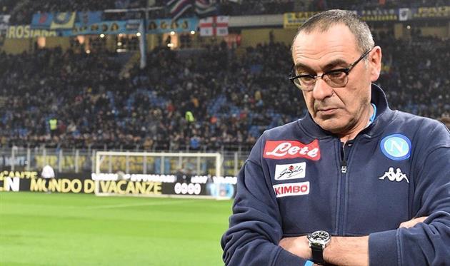 Маурицио Сарри загрустил... Фото ФК Наполи