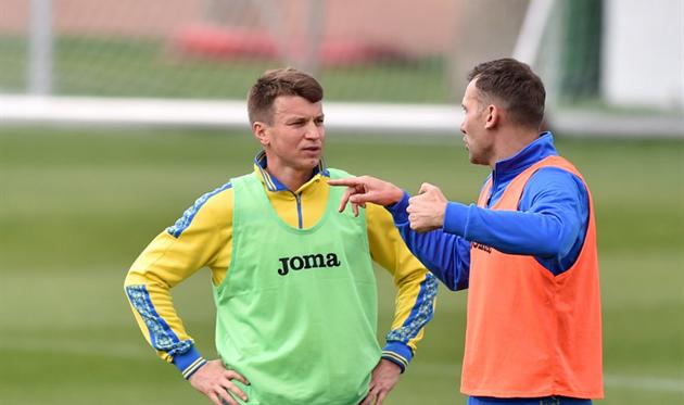 Япония: Ротань стал 3-м  вистории государства Украины  футболистом, который провел 100 матчей