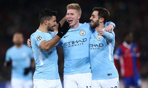 «Манчестер Сити» забил 5 безответных мячей «Суонси»