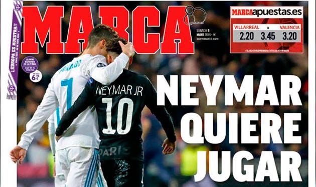 Неймар желает играть всвязке сРоналду в«Реал Мадриде»