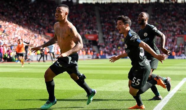 Манчестер Сити набрал рекордные 100 очков в АПЛ, Фото: twitter.com/ManCity