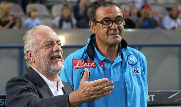 Аурелио Де Лаурентис и Маурицио Сарри, Getty Images