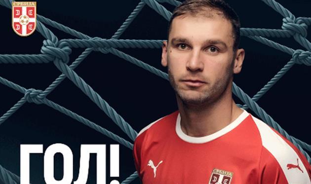 Иванович забил ударом слету после навеса через себя