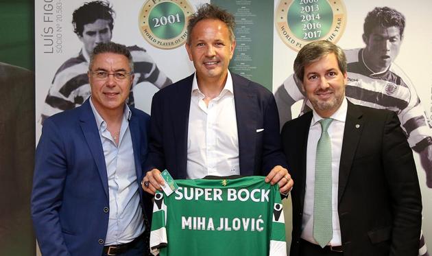 Синиша Михайлович (в центре), sporting.pt