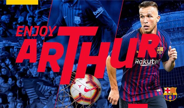 «Барселона» объявила отрансфере Артура из«Гремио» за31+9 млн евро