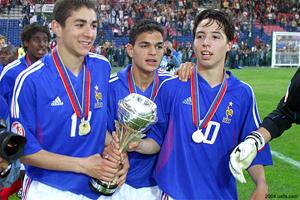 Будущее французского футбола - Бензема, Бен Арфа, Насри, фото uefa.com