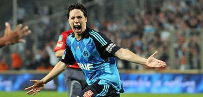 Самир Насри только что забил Страсбургу... свой последний гол за Марсель, фото om.net