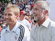 Клинсманн и Мюллер на матче