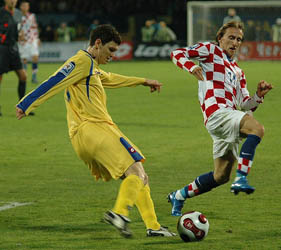 Михалик и Модрич, фото Ильи Хохлова Football.ua