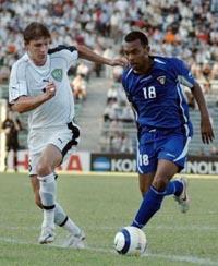 Максим Шацких в форме сборной, uzfootball.com