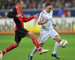 Рибери против Финка, kicker.de