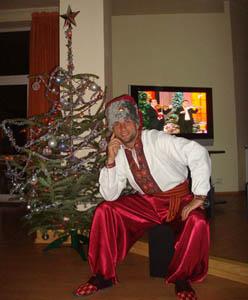 Человек-шашлык, фото газеты Блик