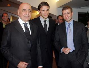 Галлиани, Шевченко, Абрамович - все довольны, все улыбаются