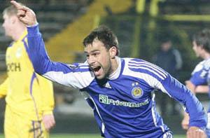 Горан после памятного гола в ворота Металлиста, фото ФК Динамо Киев